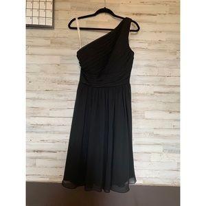One shoulder bridesmaid dress